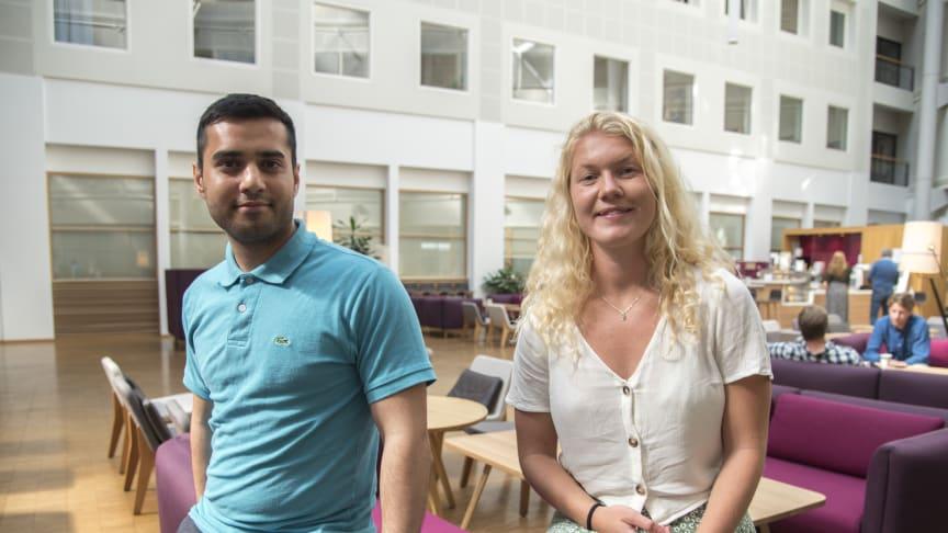 Tawab Fidai og Ingrid Aas Myhr er to av 86 sommerstudenter hos Norconsult i år.