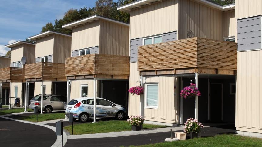 Visning 9 okt kl 17-18 Nybyggda radhus och lägenheter i Bergsjön