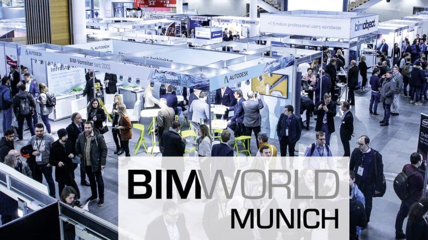 Es geht wieder los: Die BIM World MUNICH Kongress und Fachmesse für Digitalisierung in der Baubranche vom 23. bis 24. November 2021 als reine Präsenzveranstaltung