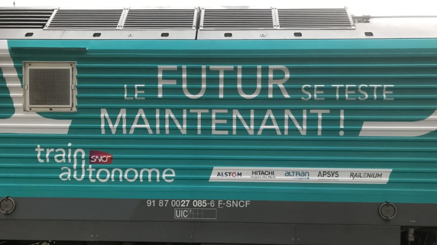 SNCF and its partners run the first semi-autonomous train on the national railway network
