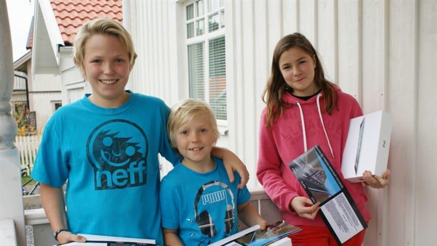 Ung trio tar hem vinsten i NCC:s Minecraft-tävling