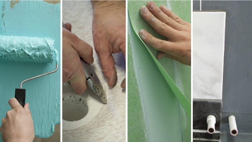Produkter som branschorganisationerna godkänner för  våtrum är noggrant testade och försedda med monteringsanvisningar för korrekt installation.