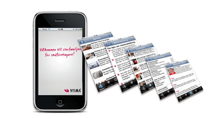 Visma lanserar program för iPhone