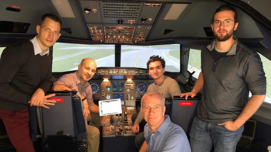 Das internationale Projektteam von Jeppesen, HFC und der TH-Wildau (Foto: HFC)