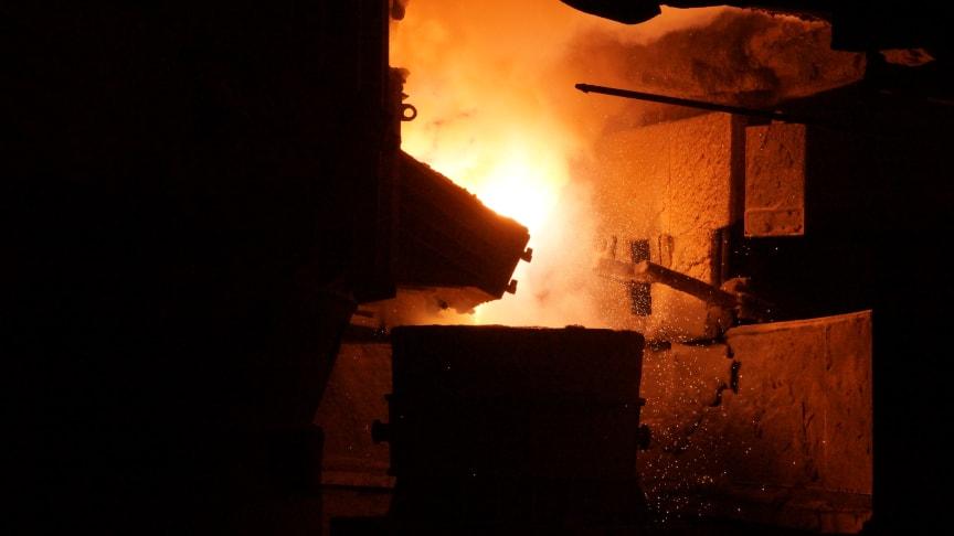 Fesil Rana Metall, smelteovn