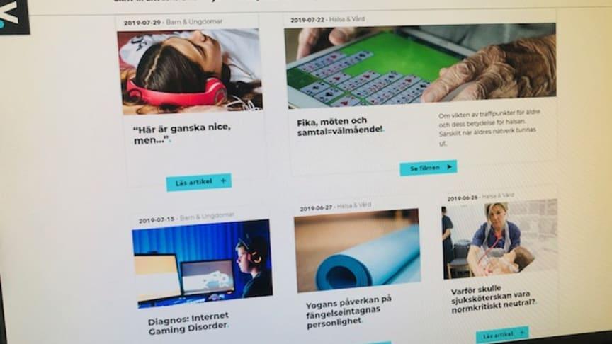 Webbplatsen och Facebook är huvudkanaler för alla artiklar och rörliga inslag som publiceras.