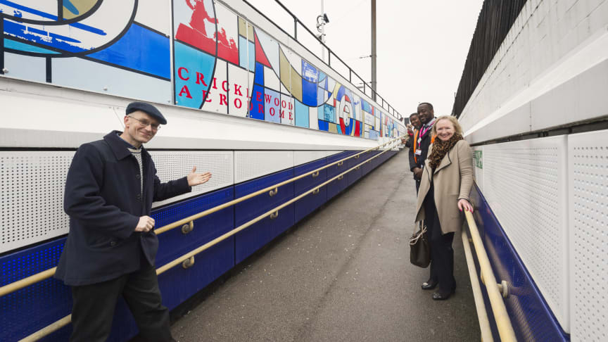 A new 24-metre mural has been unveiled at Thameslink's Cricklewood station - MORE IMAGES AVAILABLE TO DOWNLOAD BELOW