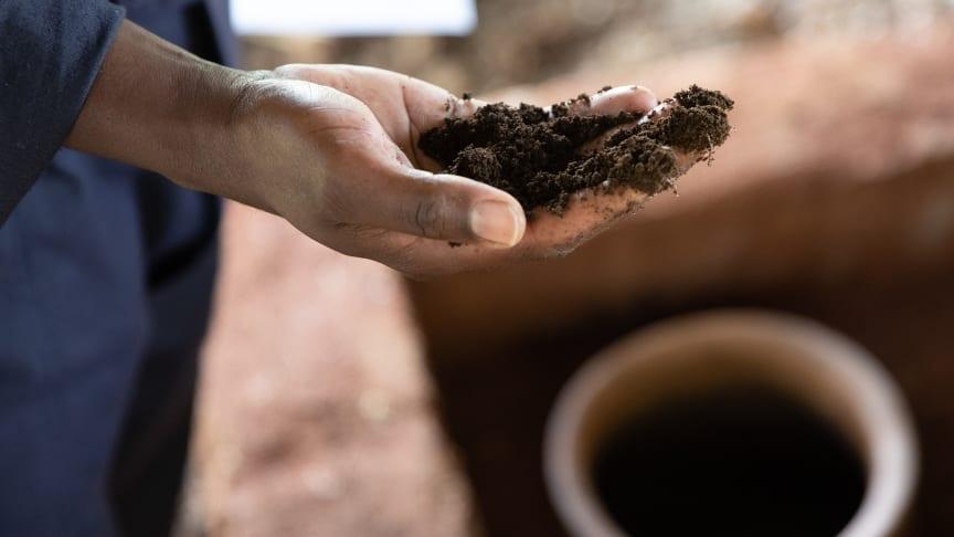 Hand mit Erde (Foto: Philip Wilson)
