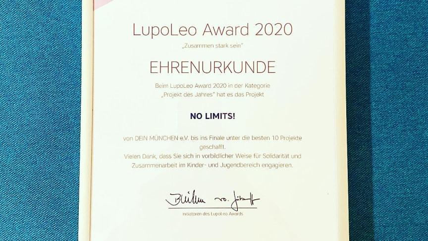 NO LIMITS! unter den Top Ten des LupoLeo Awards