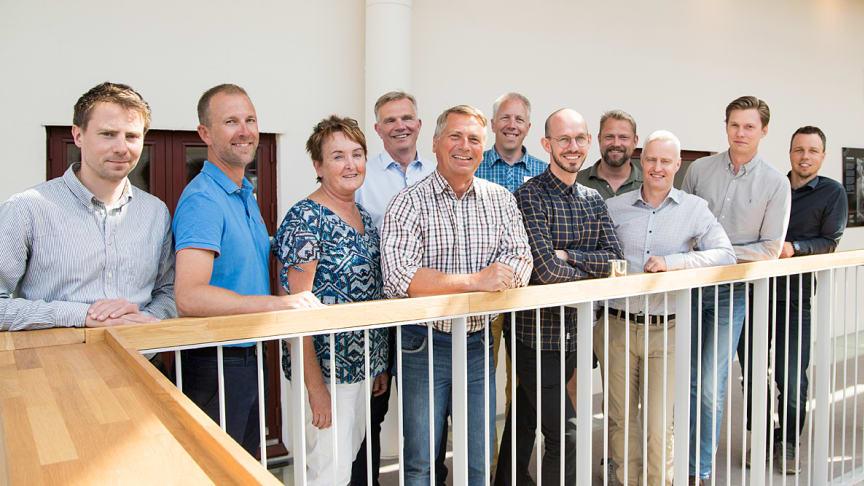 BizMakers affärsrådgivare Monica Vestberg, Pelle Berglund, Jan Röhlander och Johan Vestberg tillsammans med deltagarna i Forest Business Accelerator 2018