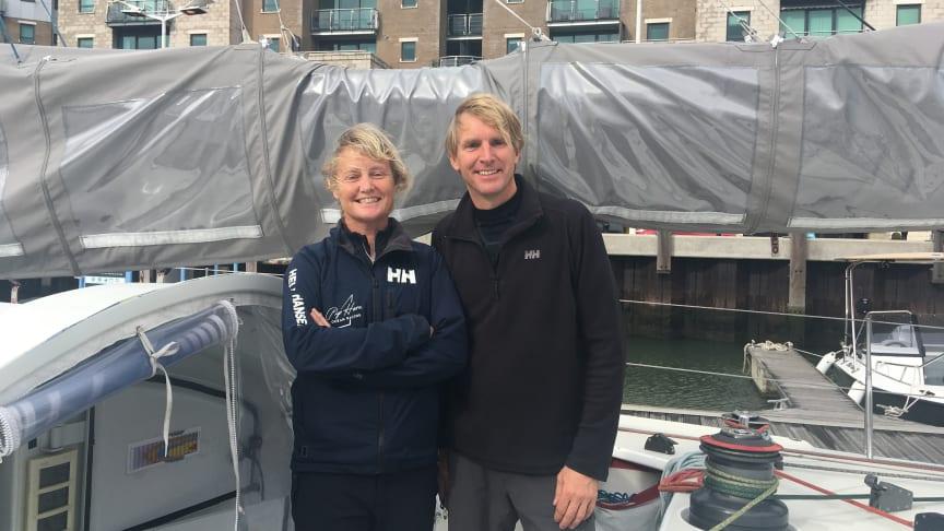Pip Hare and co-skipper Ysbrand Endt on board Superbigou
