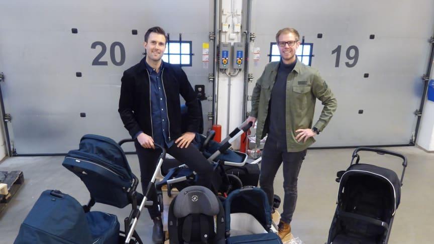 Pehr Gårlin och David Knutsson grundare av Parently. Foto: Privat