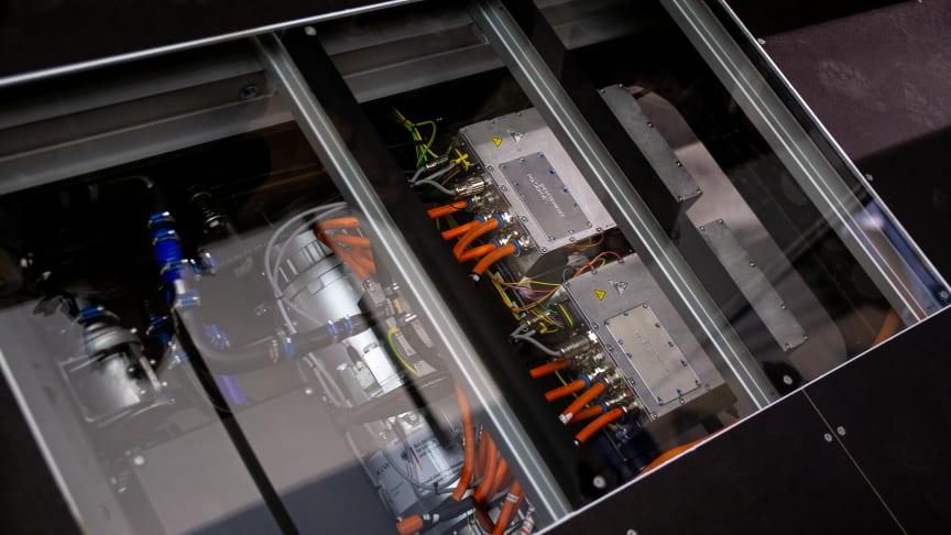 Antriebsachse, Leistungselektronik und Batterietechnik