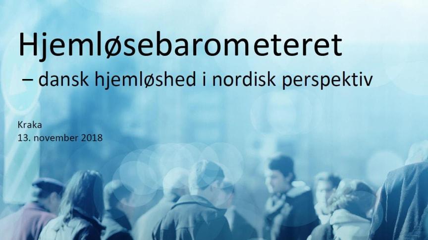 Danmark har som de eneste i Norden ikke knækket hjemløsekurven