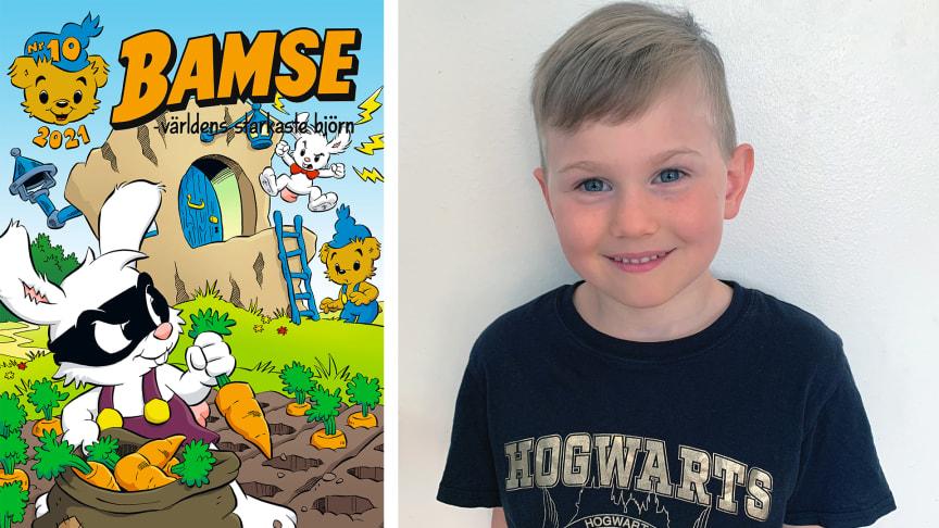 Omslaget till Bamse nr 10 och Oliver Hanek.