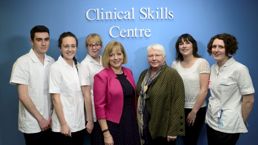 Chief Nursing Officer for England visits Northumbria to meet nursing students