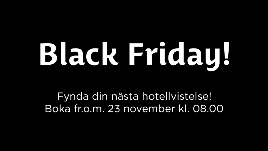 Black Friday på Best Western Hotels & Resorts