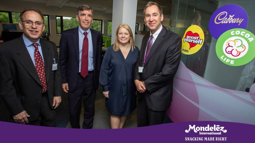 Mondelez International hosts DEFRA MP David Rutley at our new Ingredient Research space, Reading Science Centre