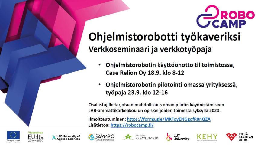 OHJELMISTOROBOTTI TYÖKAVERINA -SEMINAARI OSA 1: CASE RELION OY
