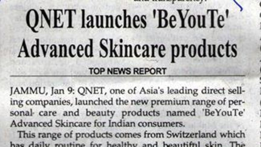 QNET launches BeYouTe Advanced Skin Care Products