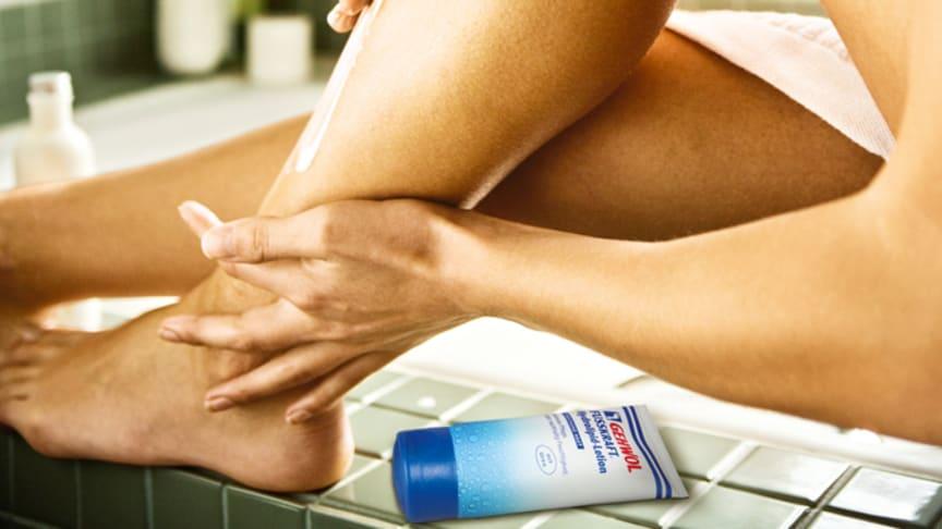 Zarte Feuchtigkeitspflege für Füße und Beine. Bild: Corbis