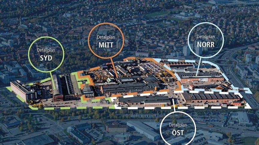 I Kopparlunden tas totalt fyra detaljplaner tas fram innan området är färdigplanerat.