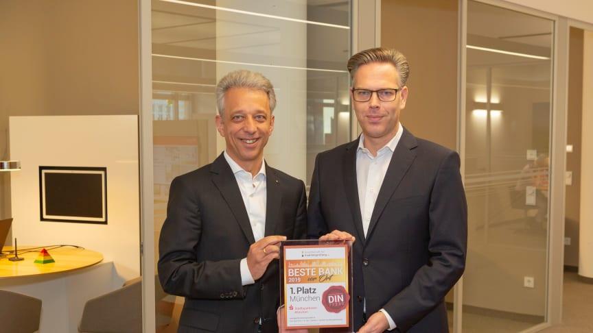 v.l. Martin Ringholz und Christian Eppelein - die Direktoren für die Privatkunden der Stadtsparkasse München
