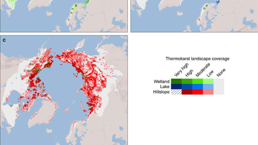 Nya kartor gör det möjligt förutspå utsläpp av växthusgaser från tinande permafrost
