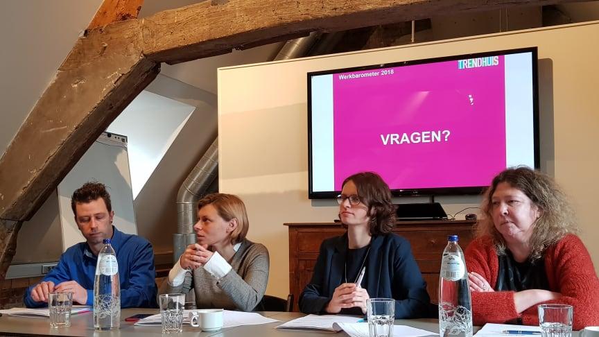 Panelgesprek tijdens de persconferentie van Trendhuis op 12 februari 2019 in Brussel