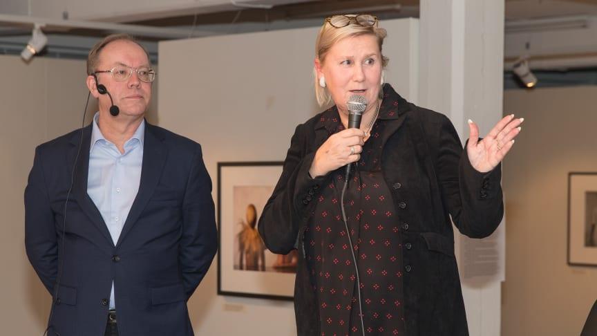 Claes och Christina Lindquist. Foto: Christer Hansson. Från utställningen på Abecita Konstmuseum 2018