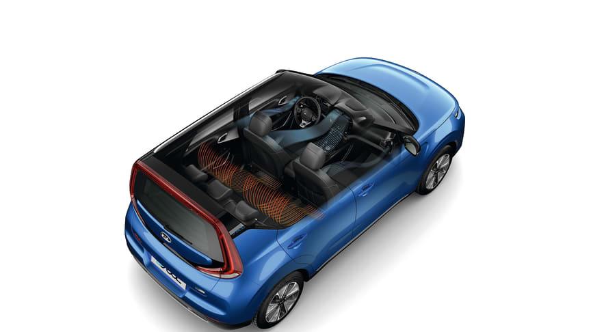 KIAs brancheførende varmepumpesystem sikrer, at KIAs elbiler tilbyder en mere konstant rækkevidde uanset vejrforhold
