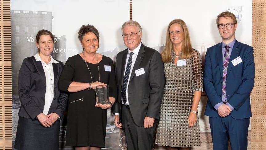 Överlämning av Volvo Cars Quality Excellence Award