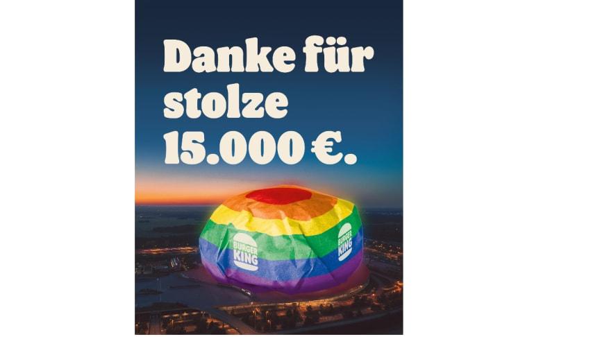 Dank des starken Supports von Whopper® Fans ist eine stolze Spendensumme von 15.000 Euro zusammengekommen