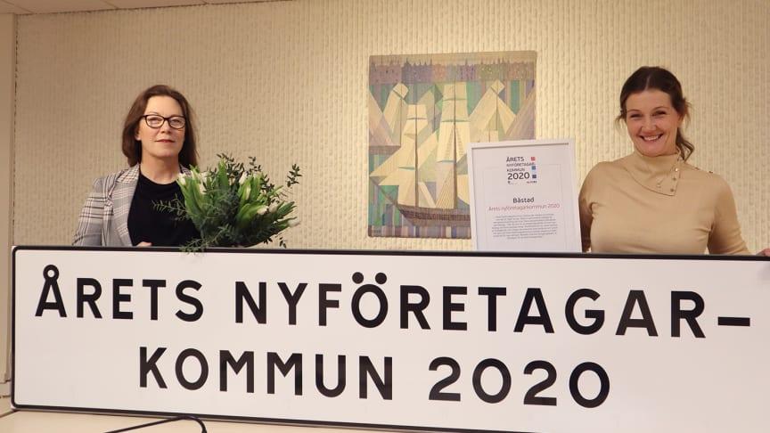Charlotte Rosenlund Sjövall, kommundirektör i Båstad och Karin Bengtsson, vd för Båstad Turism & Näringsliv.
