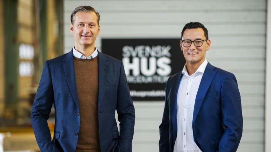 Stefan Holmberg, VD, och Mikael Lindhe, Marknads- och Försäljningschef Styckehus, kan glädja sig åt flera försäljningsrekord under 2020.