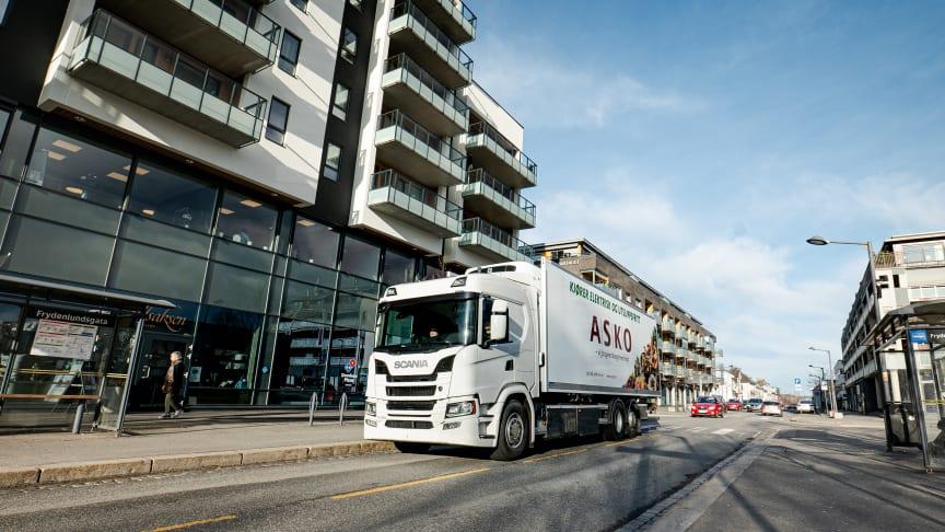 Scania sætter batteri-elektriske lastbiler i drift i Norge