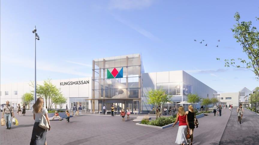 """Sex nya butiker och """"snittar och bubbel"""". Fredagen den 29 november är det dags för invigning av Etapp 1 av tillbyggnaden av Kungsmässan köpcentrum i Kungsbacka."""