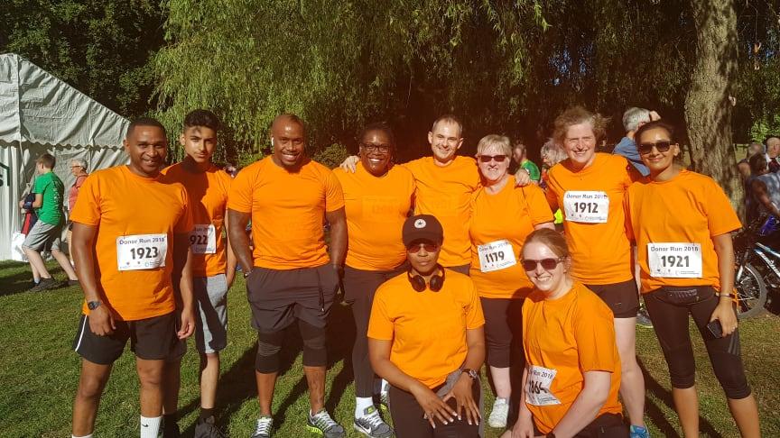 West Midlands Railway staff at the British Transplant Games Donor Run