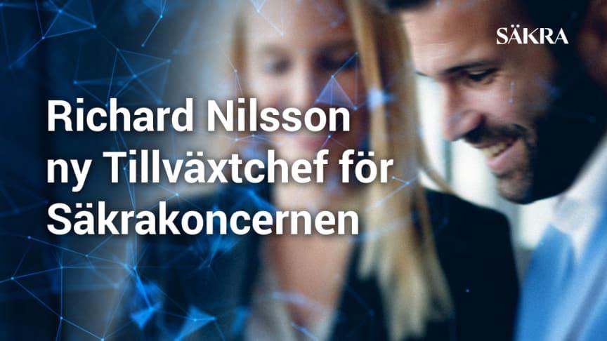 Richard Nilsson ny Tillväxtchef för Säkrakoncernen
