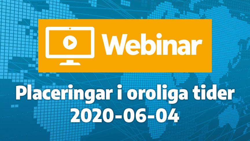 Webinar-premiär idag kl. 12:00 på bankens Facebooksida