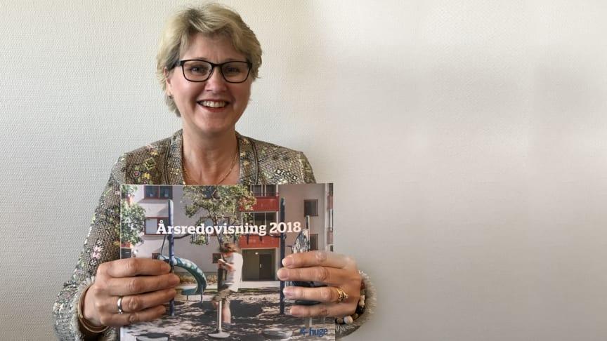 – Årsredovisningen ger en inblick i vart vi är på väg och vart vårt fokus kommer ligga under 2019, säger Huges vd Karin Strömberg Ekström.