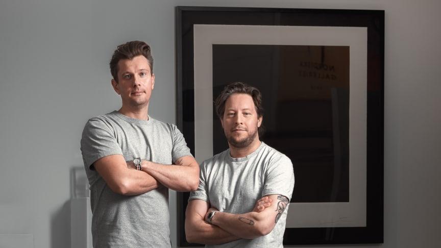 Klingits medgrundare Rikard Hegelund och Teddy Wold (foto: Robin Löfström)