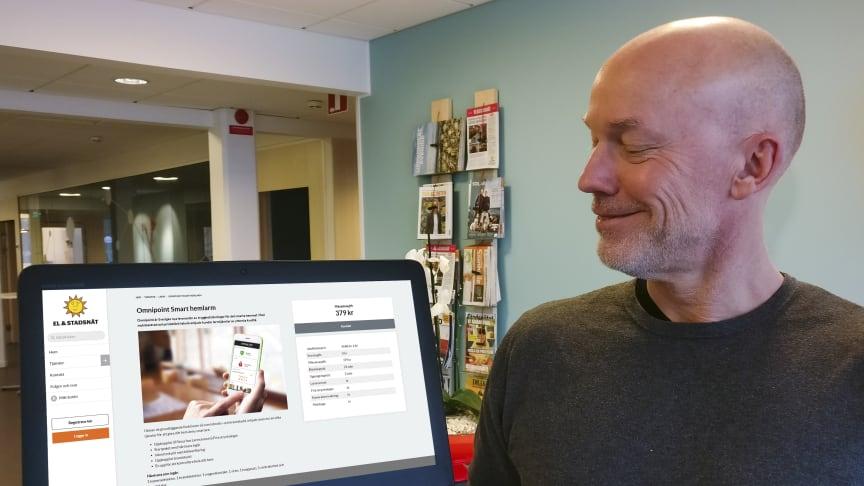 Henrik Holm, tjänsteleverantörsansvarig på Karlstads El- och Stadsnät.