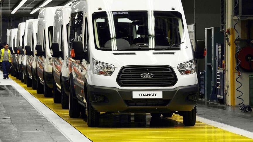Måtte øke produksjonen. I midten av 2017 måtte Ford øke produksjonen av  2T Transit, Transit Custom og Tourneo Custom for å møte den store etterspørselen etter Europas mest populære nyttekjøretøymerke.