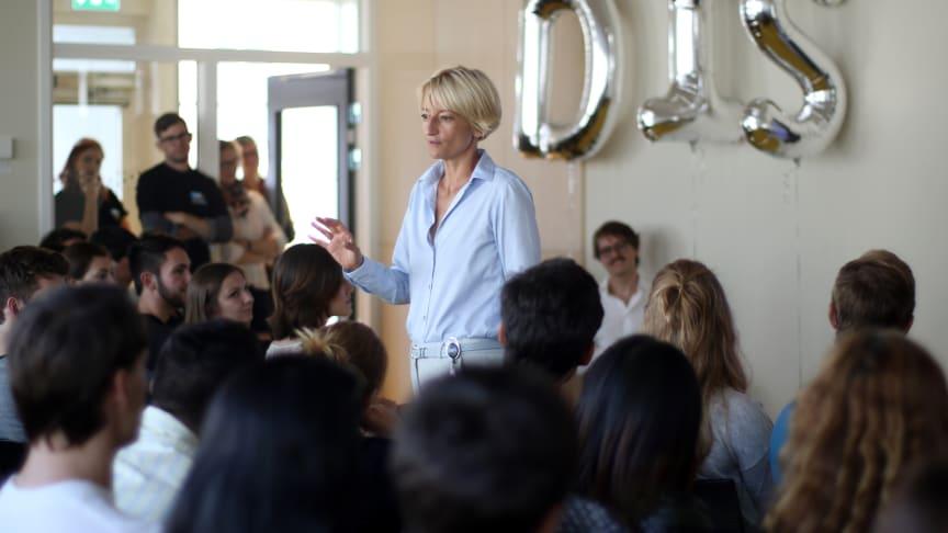 Malene Torp, Executive Director, DIS, vid invigningen av DIS lokaler på KMH i Stockholm. Foto: DIS