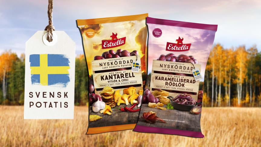 Estrella tillfälliga höstsmaker 2020: Kantarell, Vitlök & Chili och Karamelliserad Rödlök