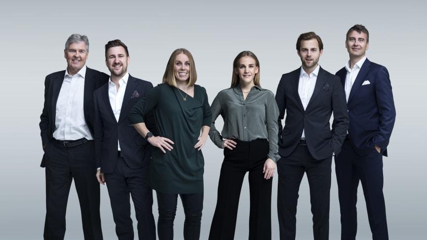 Gunnar Pettersen, Daniel Høglund, Karoline Dyhre Breivang, Mia Becker, Ørjan Bjørnstad og Ole Erevik gir deg håndball-EM på Viaplay og TV3. FOTO: Rune Bendiksen/NENT Group