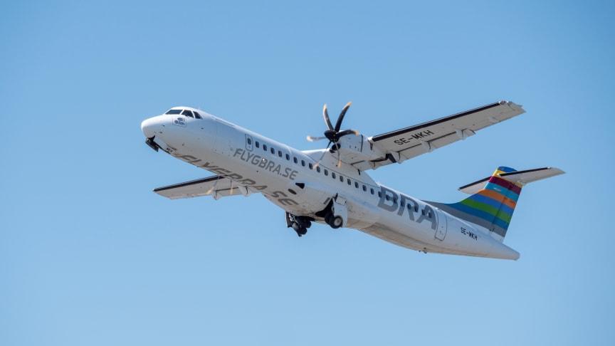 Flygbolaget BRA lanserar två nya sommarlinjer till Scandinavian Mountains Airport
