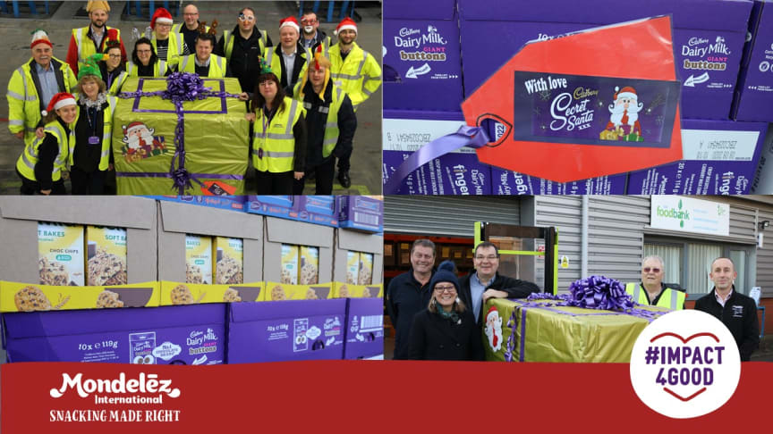 Our Bournville based Customer Service and Logistics (CS&L) team donated a golden pallet packed with treats for the festive period to local food-bank B30 in South Birmingham.