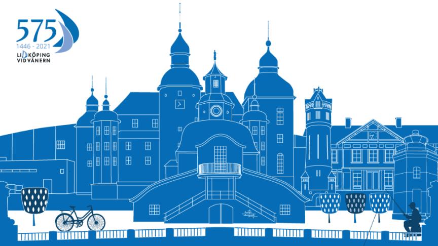 siluett av Lidköping